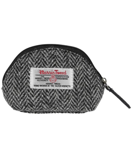 Women's Heather Amy Harris Tweed Coin Purse - Black / Grey