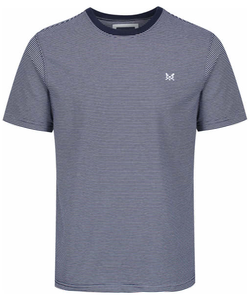Men's Crew Clothing Fine Stripe Tee - Navy / White