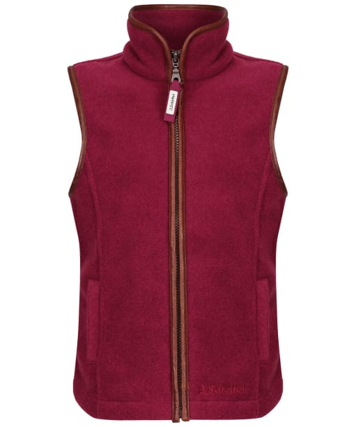 Girl's Schoffel Little Lyndon Fleece Gilet, 5-14yrs - Plum