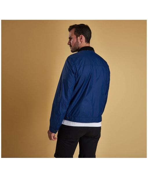 Men's Barbour x Sam Heughan Grant Casual Jacket - Inky Blue