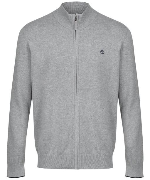 Men's Timberland Williams River Full Zip Sweater - Grey Heather