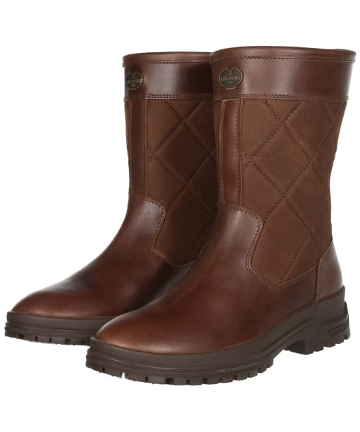 Women's Le Chameau Jameson Mid Leather Boots - Camel