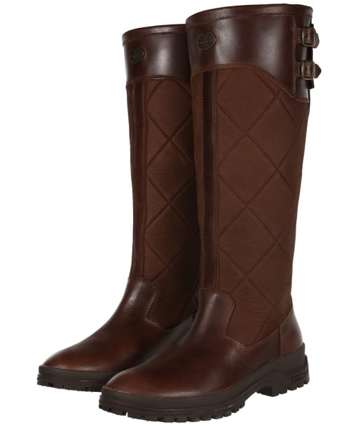 Women's Le Chameau Jameson Quilted Boots - Camel