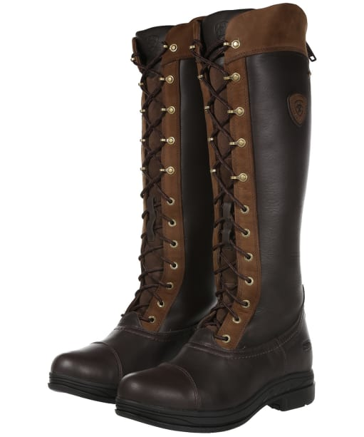 Women's Ariat Coniston Pro GTX Waterproof Boots - Ebony Brown