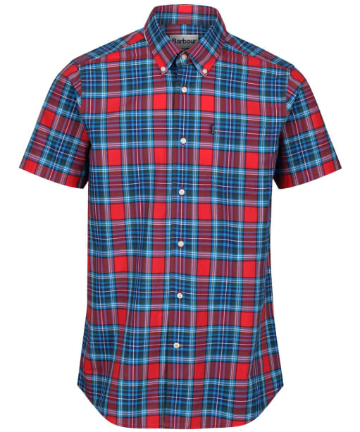 Men's Barbour Highland 6 S/S Tailored Shirt - Red