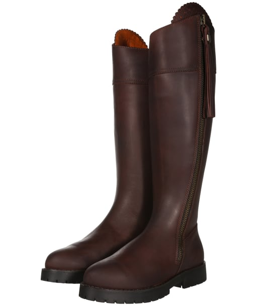 Women's Fairfax and Favor Imperial Explorer Standard Fit Boots - Mahogany Leather