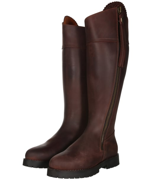 Women's Fairfax and Favor Imperial Explorer Sporting Fit Boots - Mahogany Leather