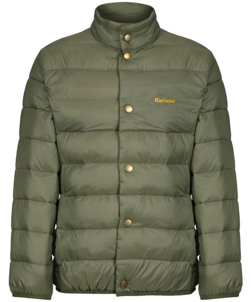 Boy's Barbour Sergeant Quilted Jacket, 10-15yrs - Light Moss