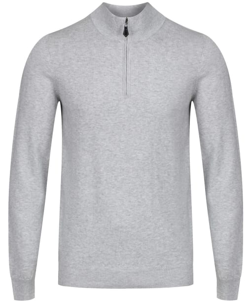 Men's Alan Paine Selhurst Half Zip Mock Neck Sweater - Dove
