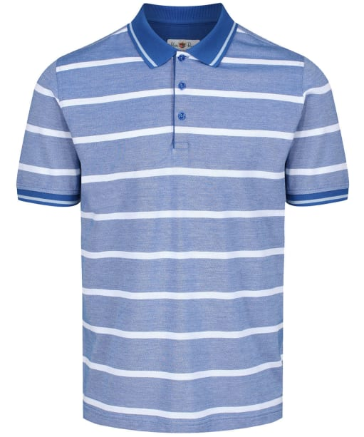 Men's Alan Paine Warmley Stripe Pique Polo Shirt - Regatta