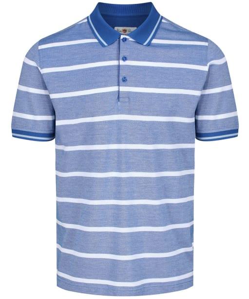 Men's Alan Paine Warmley Stripe Pique Polo Shirt - Regatta