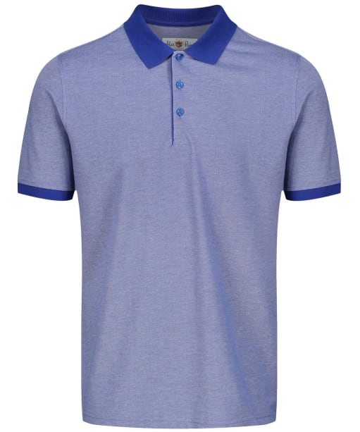 Men's Alan Paine Kirdford Oxford Pique Polo Shirt - Dark Blue