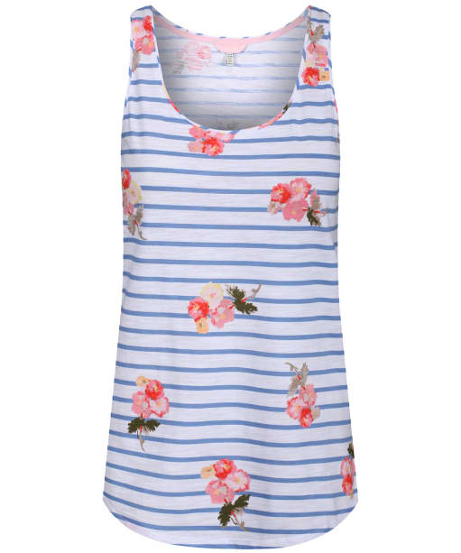 Women's Joules Bo Printed Vest Top - Blue Posy Stripe