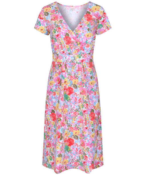 Women's Joules Jude Wrap Dress - White Floral Meadow