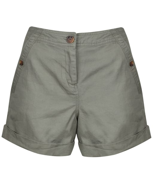 Women's Joules Lydia Linen Shorts - Dark Olive