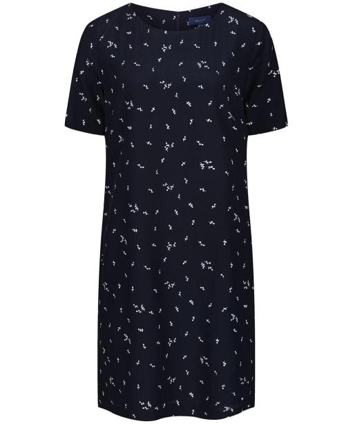 Women's GANT Microflower Print Dress - Evening Blue