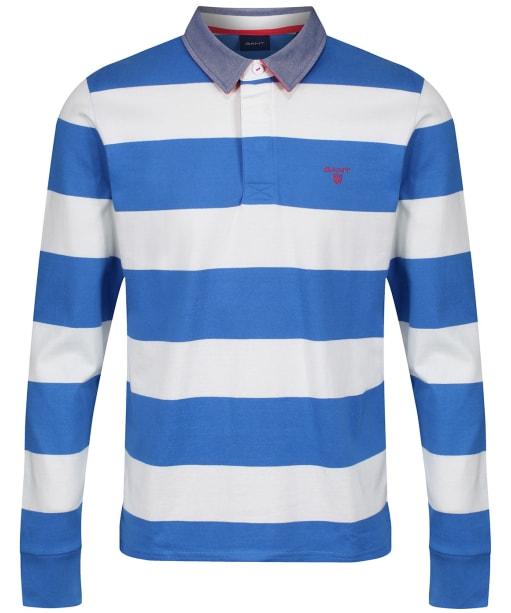 Men's GANT Contrast Barstripe Heavy Rugger Polo Shirt - Eggshell