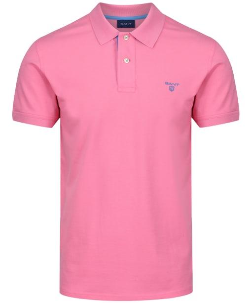Men's GANT Contrast Collar Pique - Pink Rose