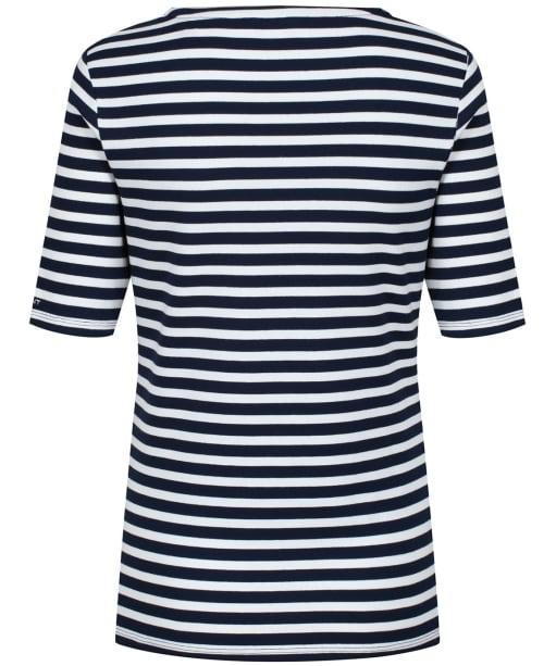 Women's GANT Striped 1X1 Tee - Evening Blue