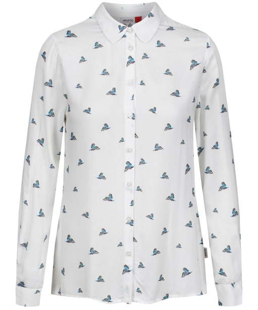 Women's Musto Kingfisher Printed Shirt - Kingfisher Repeat