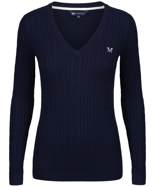 Women's Crew Clothing Heritage Cable Sweater - Navy