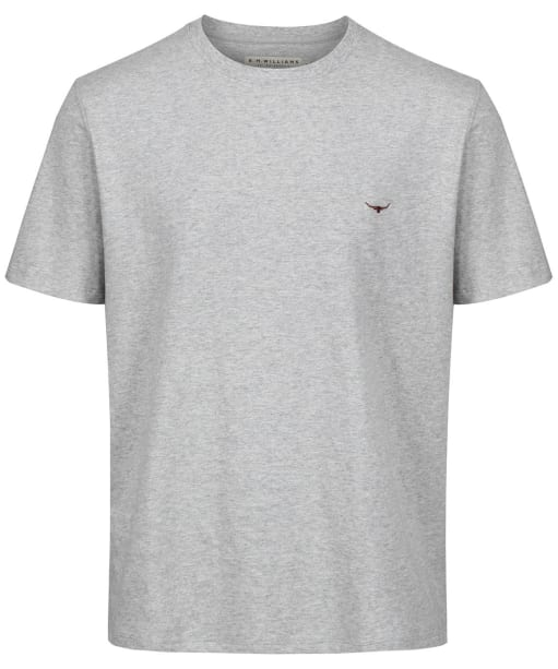 Men's R.M. Williams Parson T-shirt - Grey Marl / Chestnut