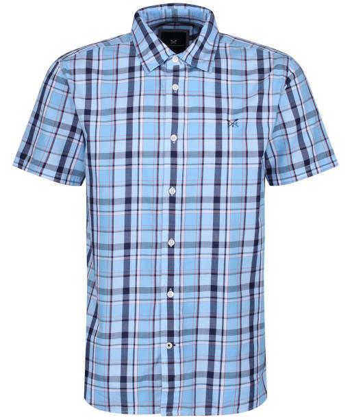 Men's Crew Clothing Pendower Check Shirt - Sky / Navy