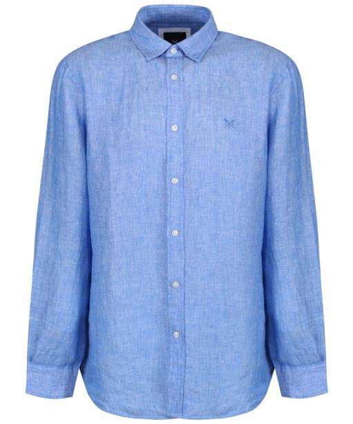 Men's Crew Clothing Classic Linen Shirt - Classic Blue