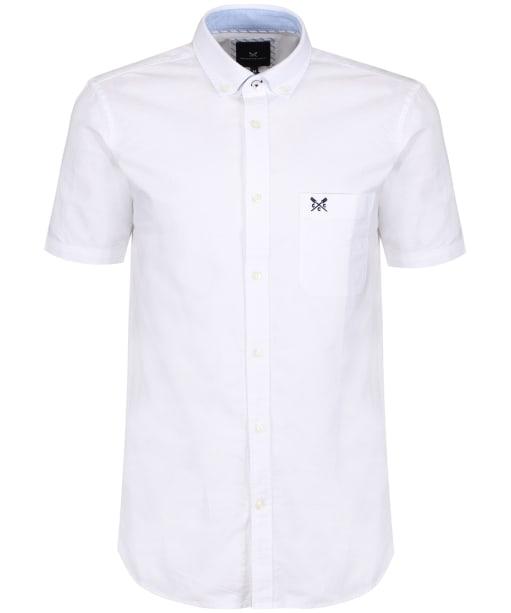 Men's Crew Clothing Plain Short Sleeve Shirt - White