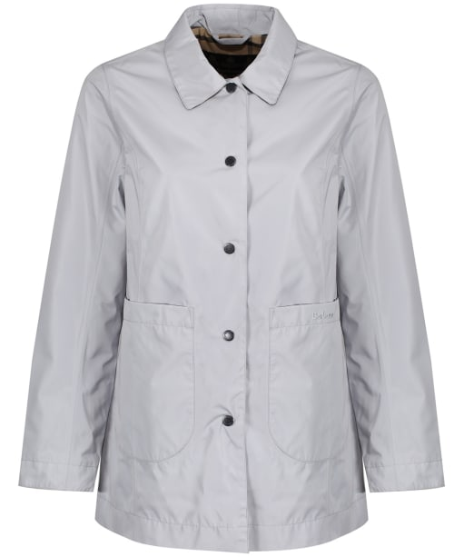 Women's Barbour Sam Heughan Livingstone Waterproof Jacket - Ice White