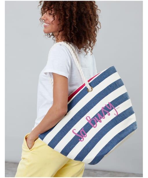 Women's Joules Seaside Bag - Cream Stripe So Busy