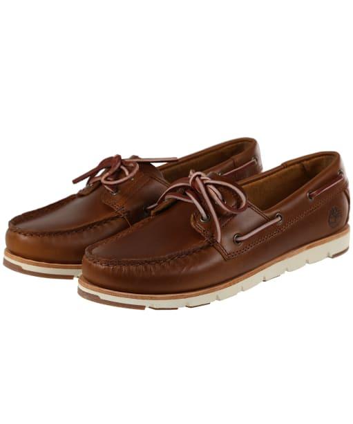 Women's Timberland Camden Falls Full Grain Boat Shoes - Medium Brown Full Grain