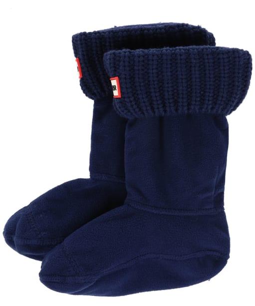 Hunter Kids Half-Cardigan Stitch Boot Socks - Navy