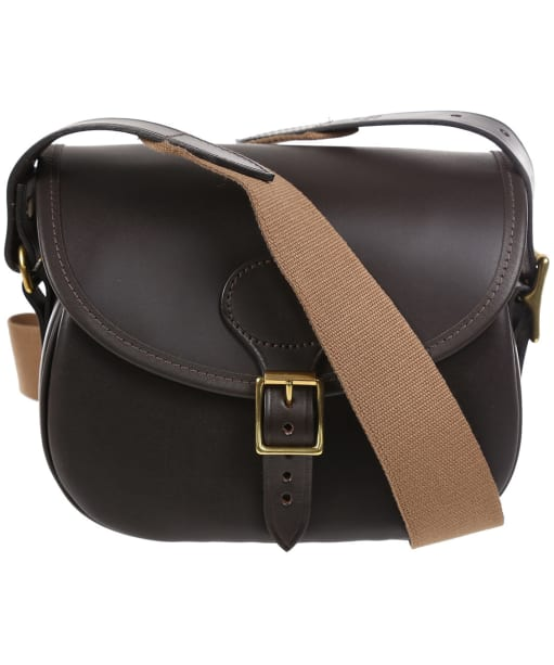 Croots Byland Leather Cartridge Bag - Dark Havanna