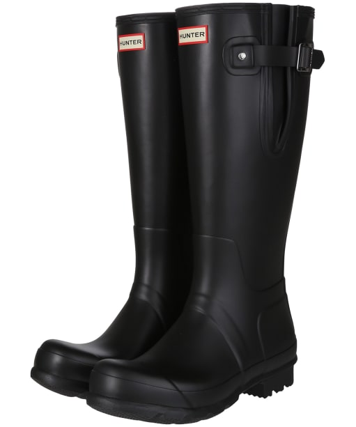 Men's Hunter Original Side Adjustable Wellington Boots - Black