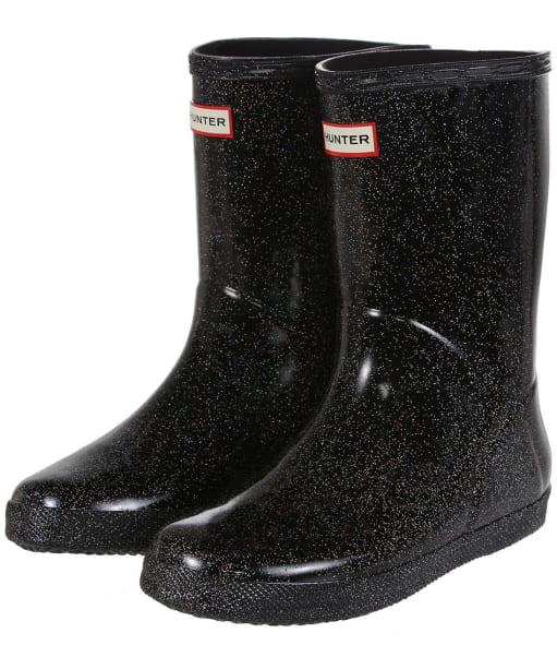 Hunter Kids First Classic Starcloud Wellington Boots - Black Multi