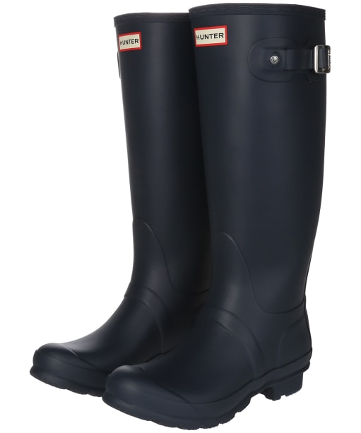 Women's Hunter Original Tall Wide Wellington Boots - Navy