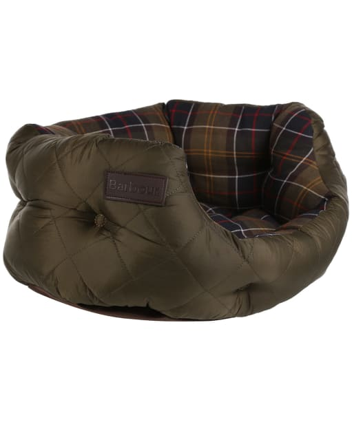 """Barbour 18"""" Quilted Dog Bed - Olive"""