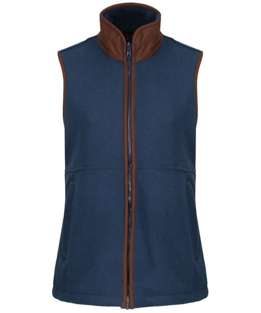 Women's Alan Paine Aylsham Fleece Gilet - Blue Steel