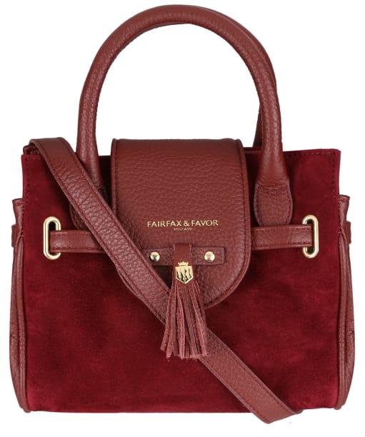 Women's Fairfax & Favor Mini Windsor Handbag - Oxblood Leather