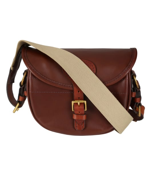 Alan Paine Leather Cartridge Bag - Brown