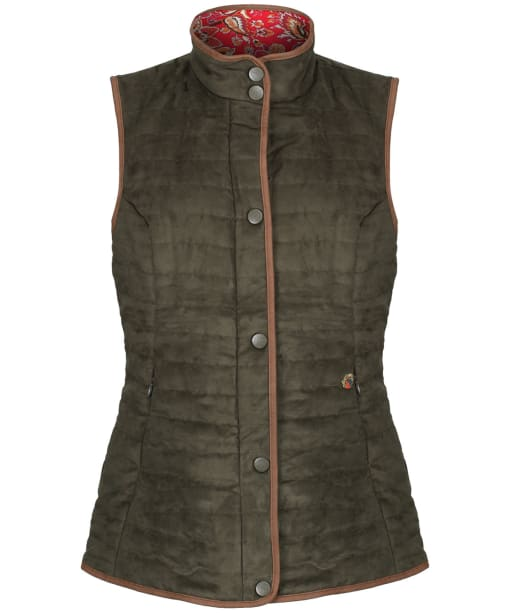 Women's Alan Paine Felwell Quilted Gilet - Dark Olive
