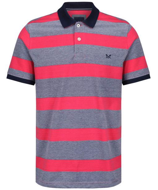 Men's Crew Clothing Oxford Polo Shirt - Pink / Navy