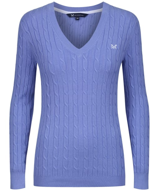 Women's Crew Clothing Summer Heritage Cable Jumper - Hyacinth
