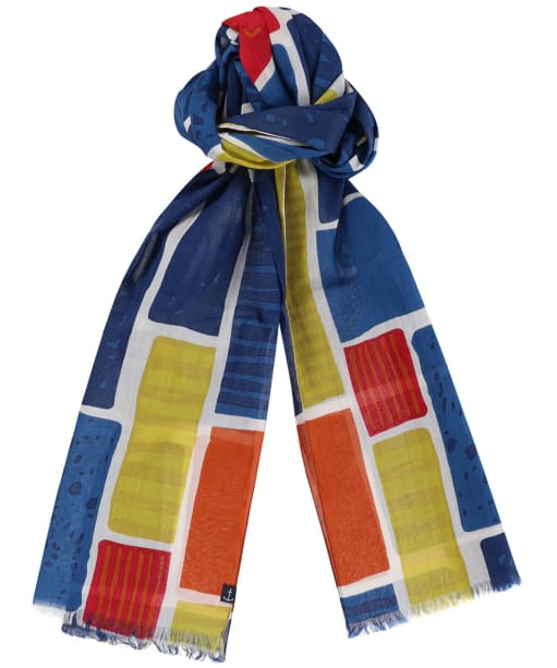 Women's Seasalt New Everyday Scarf - Patchwork Fields Ecru