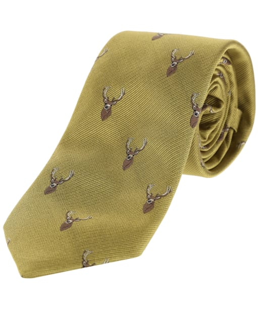 Men's Alan Paine Ripon Silk Tie - Gold