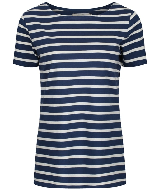 Women's Seasalt Sailor T-Shirt - Breton Night Ecru