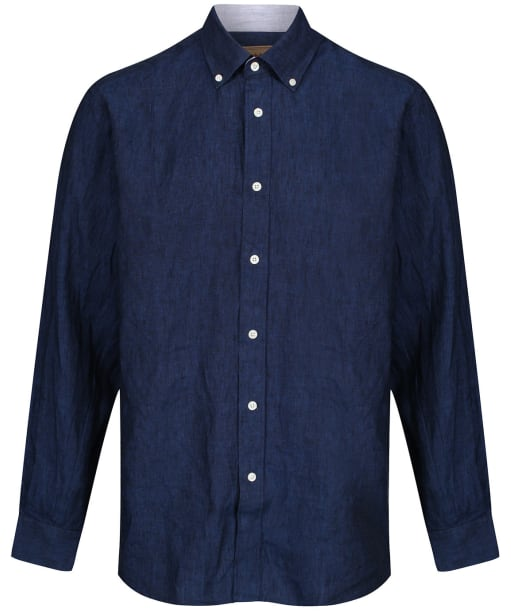 Men's Schoffel Sandbanks Linen Shirt - Navy