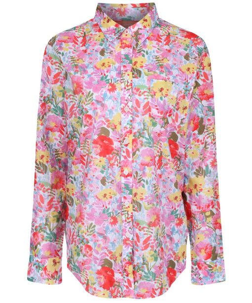 Women's Joules Lucie Shirt - White Floral Meadow
