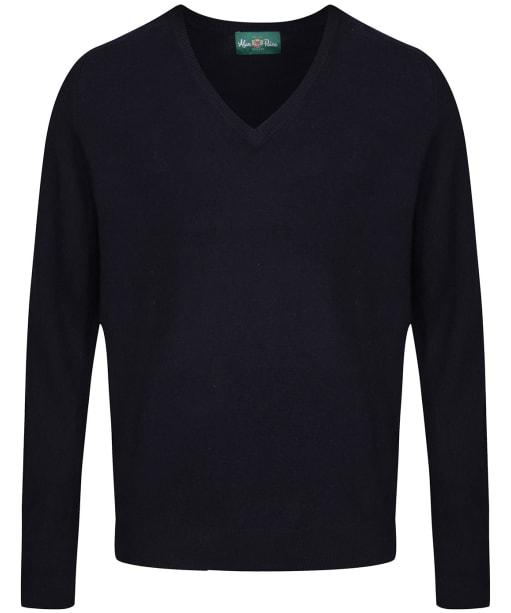 Men's Alan Paine Burford V-neck Pullover Sweater - Dark Navy